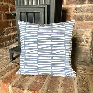 1057. Ashley Wilde Lacee Blue Natural 100% Cotton Cushion Cover Various sizes