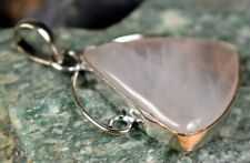 Rose Quartz Gemstone 925 Sterling silver Plated Gift Pendant A281