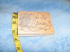 "Large Rubber Stamp - ""It's a Shower"" All Night Media Baby Shower/Bridal Shower"