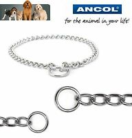 Ancol dog check chain choke fine, medium, heavy, extra heavy weight all sizes
