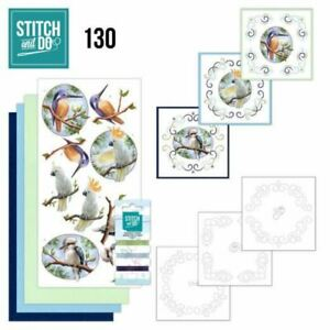 Stitch and Do 130 - Card Embroidery Kit - Wild Animals