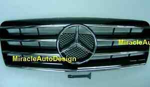 Free Shipping - Black Front Grille Set For 1991-1998 Mercedes Benz W140 S-Class