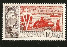 WWII NORMANDY ALLIED LANDING COMORO ISLANDS FRANCE MINT STAMP SCOTT C4 SCV$47.50