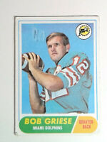 1968 Topps Football #196 Bob Griese Rookie Football Card Miami Dolphins RC