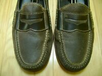 Men's Shoes COLE HANN Penny Loafer Sz 11 D Two Tone Brown Leather