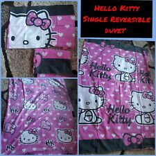 Hello Kitty single duvet cover set kids reversible with pillowcase