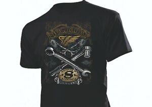 Shirt Boa Mechanics Custom Spirit Backbong of Motorcycles Biker Hot Rod US Car