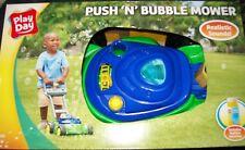 Bubble Lawn Mower Machine Toys Kids Outdoor Play Garden Soap Bubbles Solution