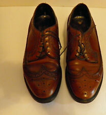 Vintage Penney's Men's Wing Tip Burgundy/Brown Oxfords (Size 9.5, Made in USA)