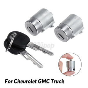 2X Lockcraft Door Lock Cylinder 2 Keys DL19881 For Chevrolet GMC Truck Cadillac