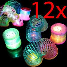 12 X Magic Light Rainbow 5Cm Kids Coil Gift Fun Activity Classic Slinky Toy Led