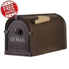 Mailbox Postal Pro Post-Mount Hampton Bronze Rust Colored Large Durable