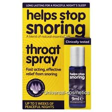 Helps Stop Snoring Throat Spray 9ml- GENUINE/FREE DELIVERY