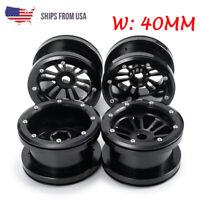 4pcs 2.2'' Alloy Beadlock Wheels Rims For RC 1/10 Crawler Axial Wraith TRX-4 D90