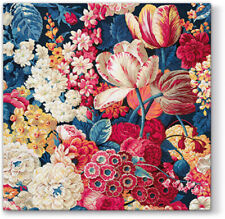 20 Paper Lunch Napkins Red Tulips on Blue Decoration Decoupage FLOWER SPLENDOR
