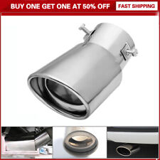 Universal Vehicles Silver Stainless Steel Chrome Exhaust Tail Muffler Tip Parts
