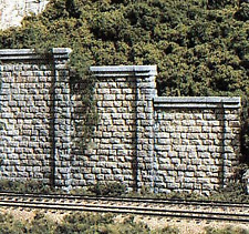 Woodland Scenics C1159 Cut Stone Retaining Wall Concrete (Pk6) N Gauge