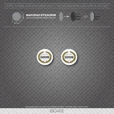 6043 - Gios Bicycle Handlebar Bar End Plug Stickers - Decals