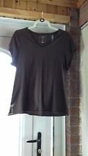 sze16 top quality expensive 100% cotton brown EVANS t/shirt with lovely 'V' neck