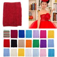 6'' 9'' 12''Stretch Crochet Tube Top Headband Girl Waistband Tutu Skirt Favor