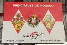 B-D-M Monaco Cartera oficial Euro Set 8 monedas 2001 SC UNC