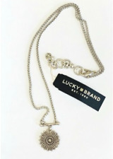 Lucky brand jewelry antique matte silver necklace. Length:10''.  017N