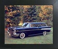 1957 Chevy Nomad Bel Air Vintage Car Wall Decor Contemporary Framed Art Picture