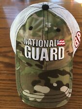 New Dale Earnhardt Jr National Guard Camouflage Hendrick Team Hat - No Reserve!