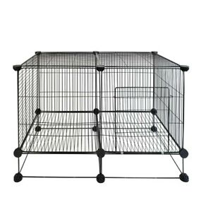 Pet cage with Metal Wire Grid, DIY Small Animal cage Indoor for Guinea Pigs,...