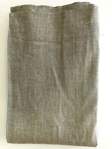 Restoration Hardware LINEN SAND Burlap Lined Curtain Panel 50x84 Tan Textured