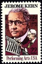 1985 22c Jerome Kern, Performing Arts Scott 2110 Mint F/VF NH