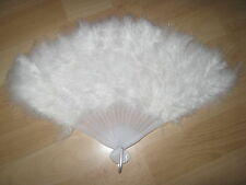 LUXURY WHITE FEATHER FAN FOR FANCY DRESS