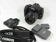CANON EOS XTI CAMERA BODY W/EOS 35-80MM LENS CHARGER&2 BATTERIES