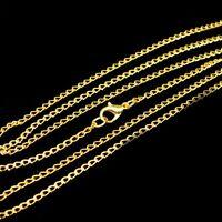 Collar 80cm Metal Cadena Metal Cadena 3mm Oro Colorido Cadena del collar