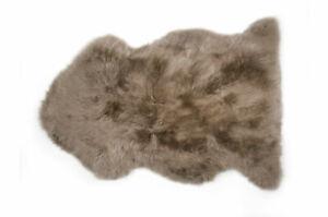 Genuine Taupe Sheepskin Rug 2x3 ft Real Sheep Wool Leather Carpet Animal Skin