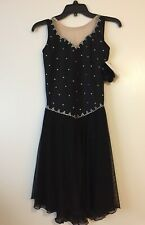 Icings Nwt Black Ice Roller Dance Skating Dress Child L