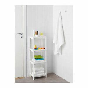 4 Tier Bathroom Storage Shelves Rack Caddy Display Shelving Organiser Unit White