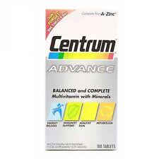 Centrum Advance Multivitamin/Multimineral 100 Tablets Multi Vitamins NEW