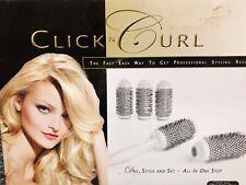 Click N Curl Blowout  5 Brush Set with Detachable  1 3/4 inch Barrels - Medium