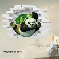 Kungfu Panda Breakthrough 3D Wall Decals Removable Stickers Kids Decor Gift Art