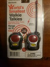 World's Smallest Walkie Talkies Miniature Electronic Toy Westminster New Sealed