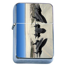 Windproof Refillable Flip Top Oil Lighter Bombers D9 Airplane Military Aircraft