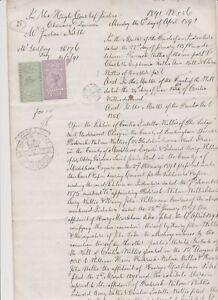 2126 GB Revenues 1891 Judicature 1/6 & 2d on document