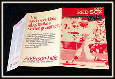 1979 BOSTON RED SOX ANDERSON LITTLE BASEBALL POCKET SCHEDULE FREE SHIPPING