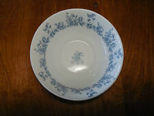 """Arcopal France GLENWOOD Set of 4 Soup Cereal Bowls 6 3/8"""" Blue Flowers Rimmed"""