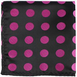 New Men Big Polka Dots Pocket Square Handkerchief Hankie only Wedding Party Prom