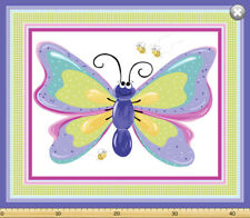 Flutter Butterfly by SusyBee Cotton Quilt fabric BTP Giant Panel 44x36 Play Mat
