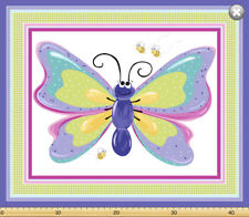 Flutter the Butterfly by SusyBee Cotton Quilt fabric BTP Giant Panel 44x36