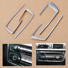 New 4 pcs Chrome Console Button Cover Trim For 2013-2015 BMW 3 4 Series F30 F34