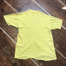 New listing Vintage 70s Yellow Cotton T-Shirt Medium Single Stitch Crewneck